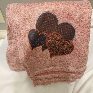 Red Valentine's blanket